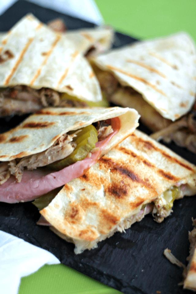 Cuban Sandwich Quesadillas - Casa de Crews